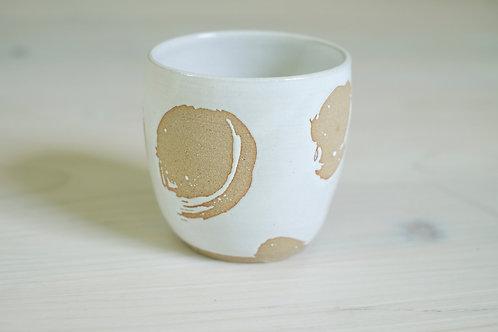 Here Be Monsteras Ceramic Coffee Beaker- Cloud Gate Coffee Exclusive Design