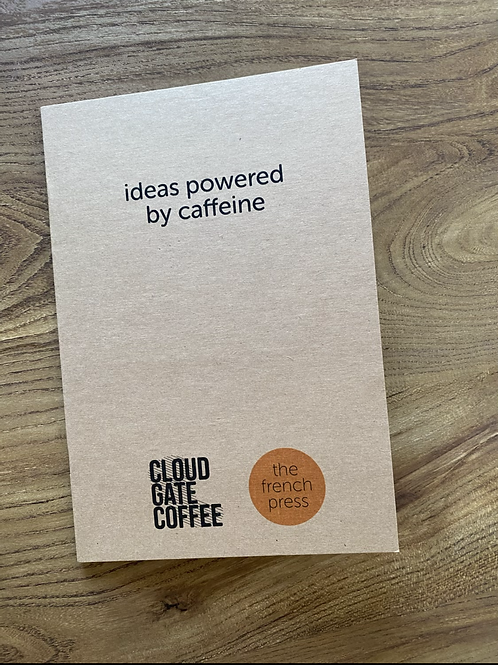 Powered by Caffeine Notebook