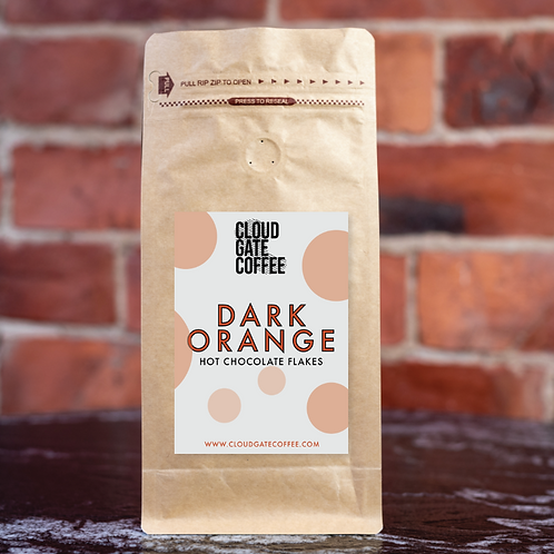 Dark Orange Hot Chocolate Flakes