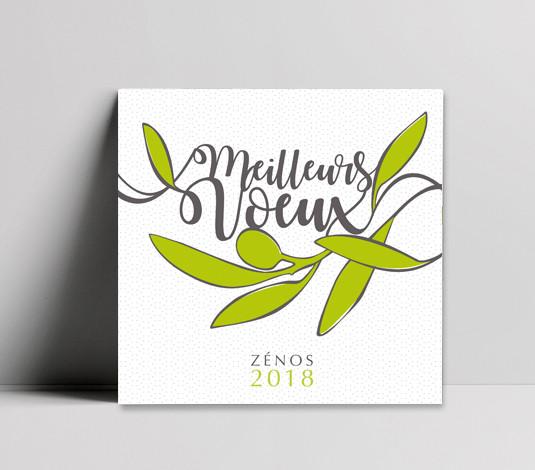 Signalétique - Zenos - Design graphique - Carte de voeux