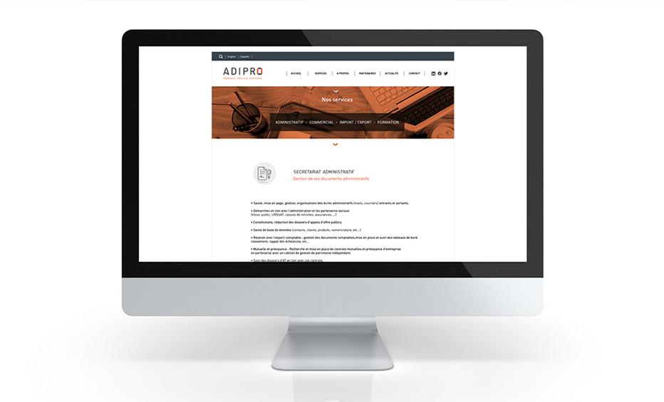 Charte graphique ADIPRO - Web design