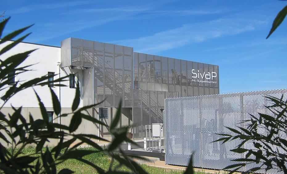 Signalétique - SIVAP - Sation d'épuration - Montrond-les-bains - Loire 42 - Design d'espace Signalétique globale - Designer  Maud Moretton - Atelier design d'espace & design graphique