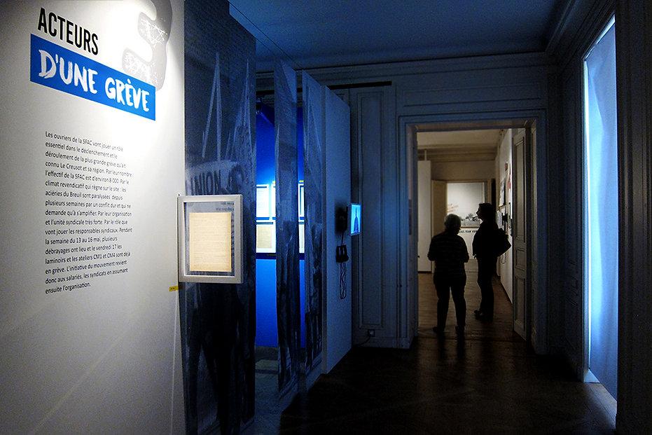 Scénographie exposition temporaire - Mai 68, 50 ans après… Musée Le Creusot (Saône-et-Loire 71) Design d'espace - Designer maud moretton - Atelier design d'espace & design graphique