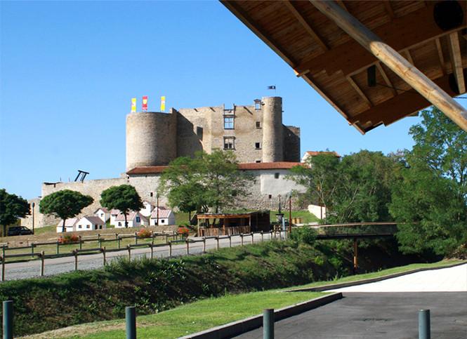 Vue du Chateau à Montrond les bains Organisation de séminaire dans la Plaine du Forez par ESPACE PRO 42 Loire