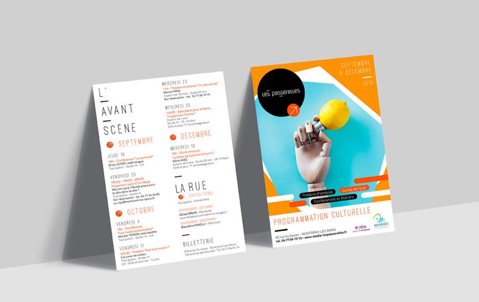 Charte graphique les passerelles - Flyer - programme culturel