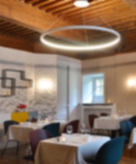 Aménagement - Design d'espace - Château de Bobigneux - Restaurant Saint-Sauveur-en-Rue (Loire 42) - designer maud moretton - Atelier design d'espace & design graphique - Saint-Etienne