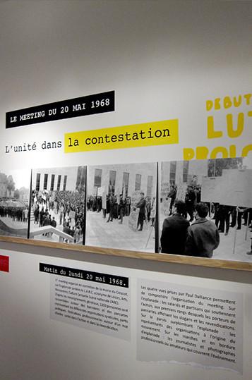 Expo Mai 68  - Scénographie - Le Creusot Monceau