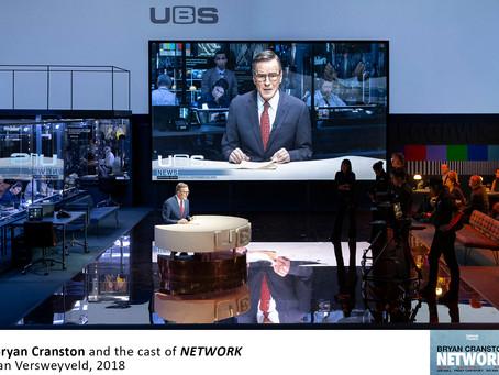 "Bryan Cranston stars in ""Network"" on Broadway"