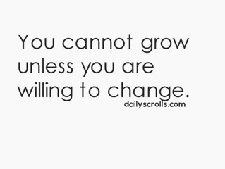 Change means we Grow