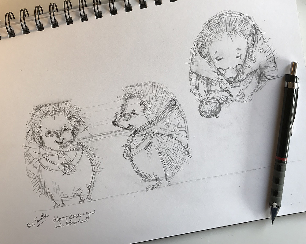 Mrs Snuffle character sketch