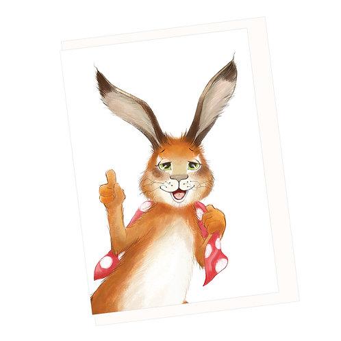 Hare's Idea Greeting Card