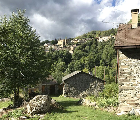 View of the village Ascou