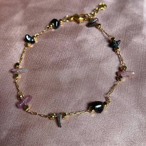 Bracelet chaine - Tourmaline
