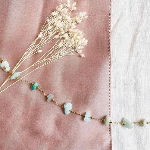 Bracelet chaine - Amazonite