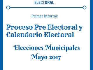 Primer Informe Proceso Pre Electoral 2017