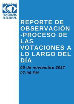 Avances del proceso de votación por la tarde-Segundo Reporte