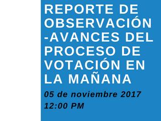 Avances del Proceso de Votación en la mañana-Primer reporte