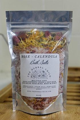 Rose Petal & Calendula Bath Salts