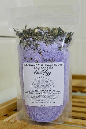 Lavender and Geranium - Echinacea Bath Fizz - Wholesale