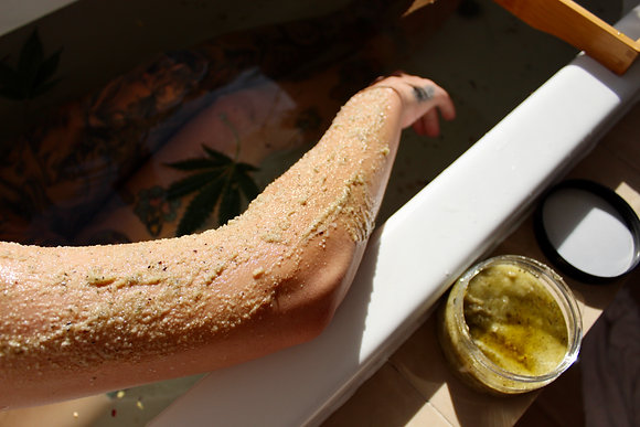 Hemp Salt Scrub - Lemon Eucalyptus & Rosella