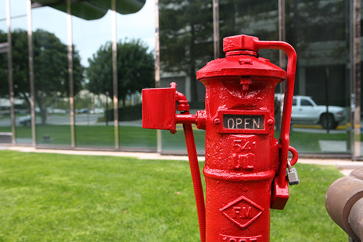 Post Indicator Valve (PIV), if you have one of these then you have a Fire Sprinkler system!