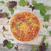red leicester, corn & spinach