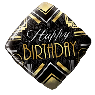 "18"" Foil Birthday Art Deco Diamond"