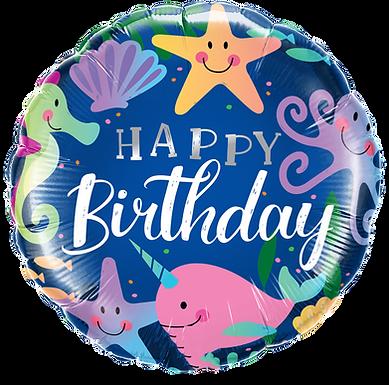 "Birthday Fun Under The Sea 18"" Foil"