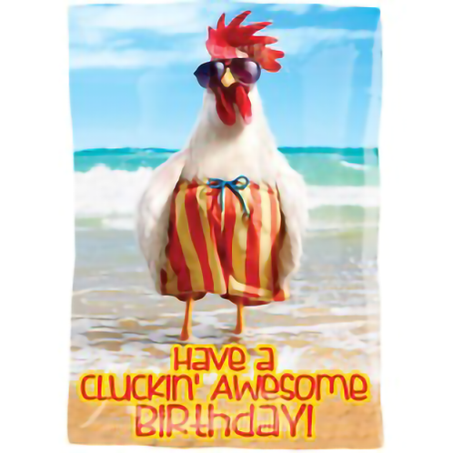 Have a Cluckin' Awesome Birthday! Foil Balloon