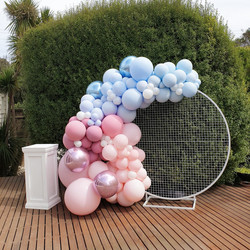Baby Shower Balloon Garland backdrop wit