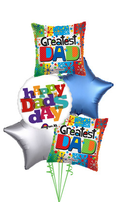 $60 - Happy Dads Day Balloon Bouquet