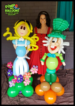 Alice and The Mad Hatter Pimp My Balloons