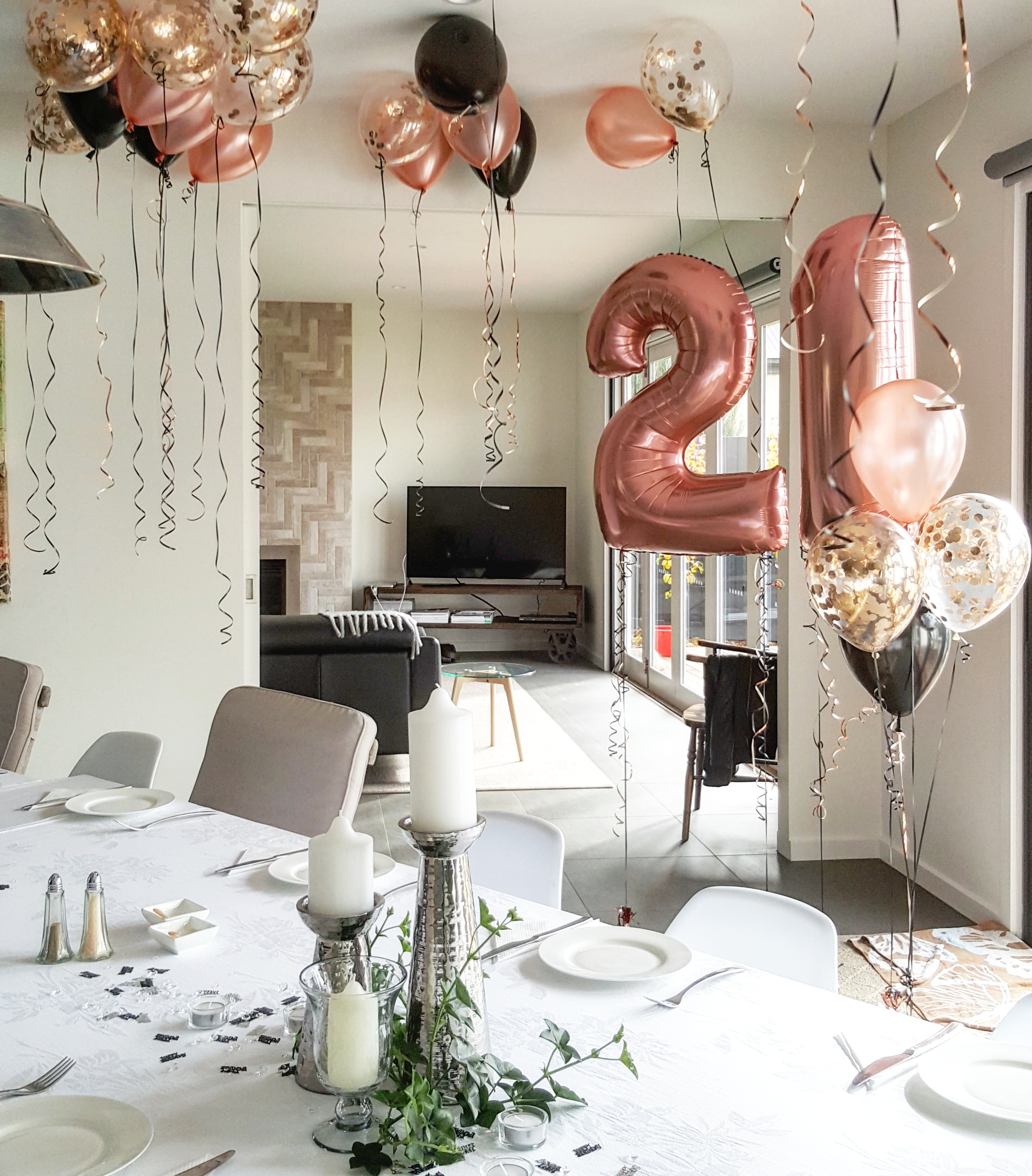 21st birthday decorations