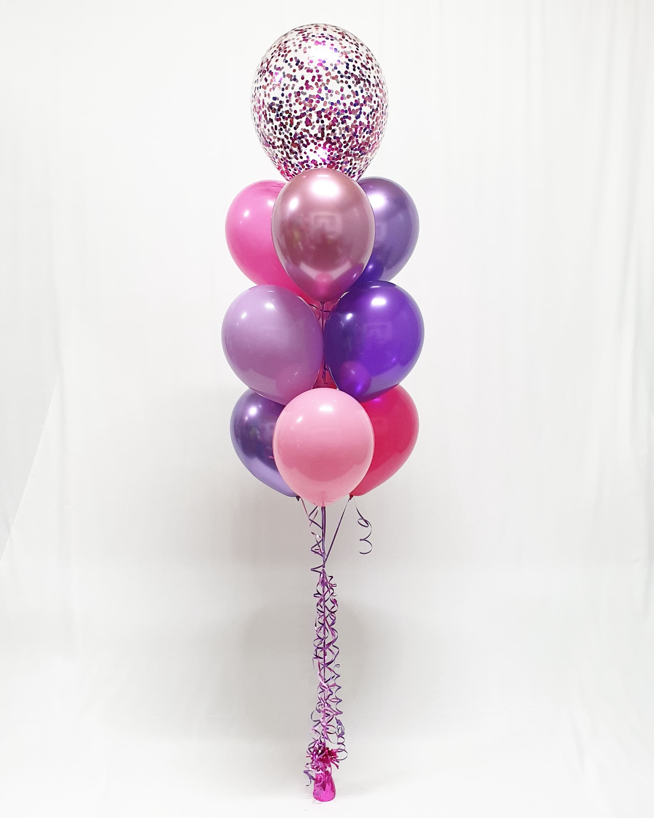 $43 - Confetti Topped Helium Bouquet