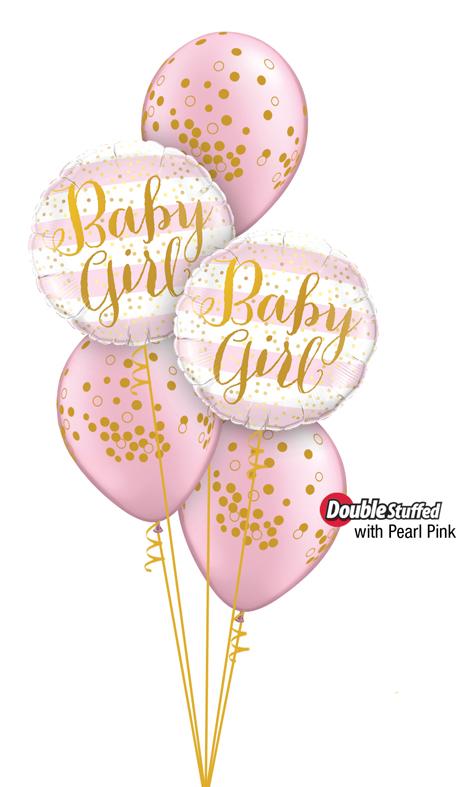 $45  -  Baby Girl Confetti Print