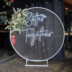 Round Backdrop Frame Hire