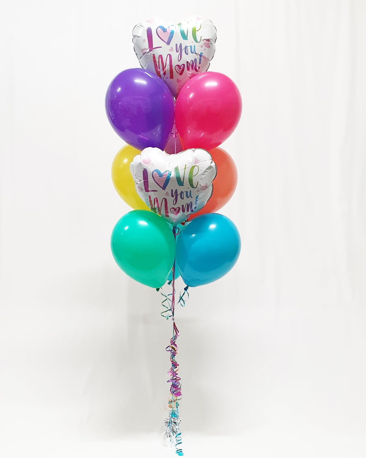 $50 Mothers Day Rainbow Balloon Bouquet