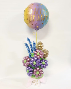 $80 - Birthday Flower balloon bouquet