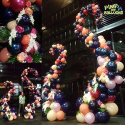 Organic Balloon Swirl Garland