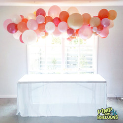 2m long organic balloon garland