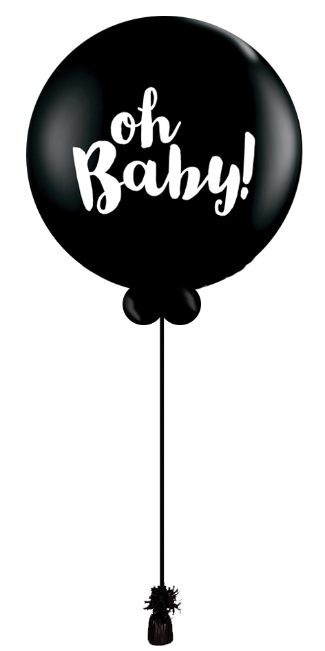 $60  - Gender Reveal Balloon Oh Baby