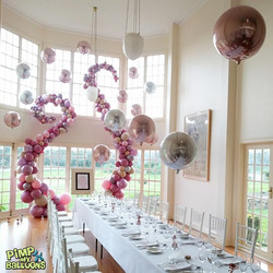 wedding balloon garland - pimp my balloons