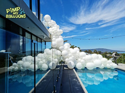 Balloon Garland Swimming Pool Decoration