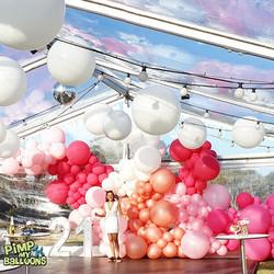 21st balloon backdrop
