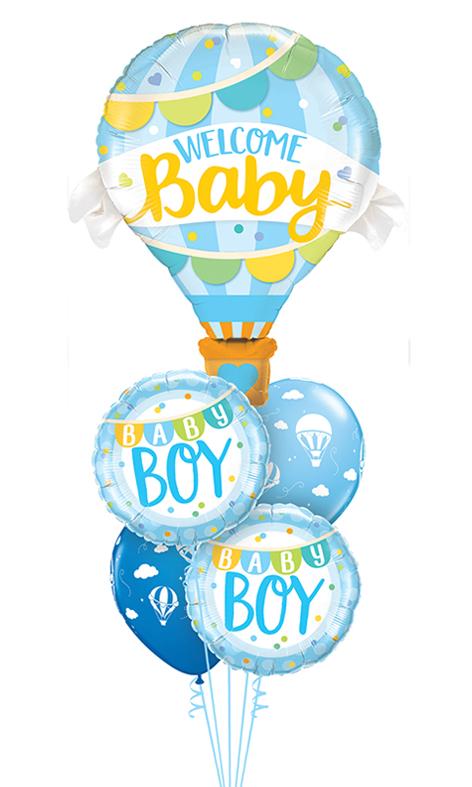 $65  -  Baby Boy Hot Air Balloon
