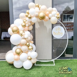 Baby Shower Balloon Garland with backdro