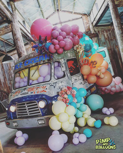Balloon Garland Retro Ice Cream truck De