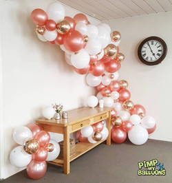 21st birthday balloon garland