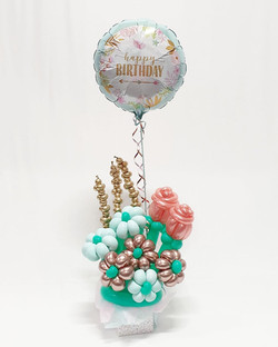 $80 - Rose gold and mint green flower bouquet