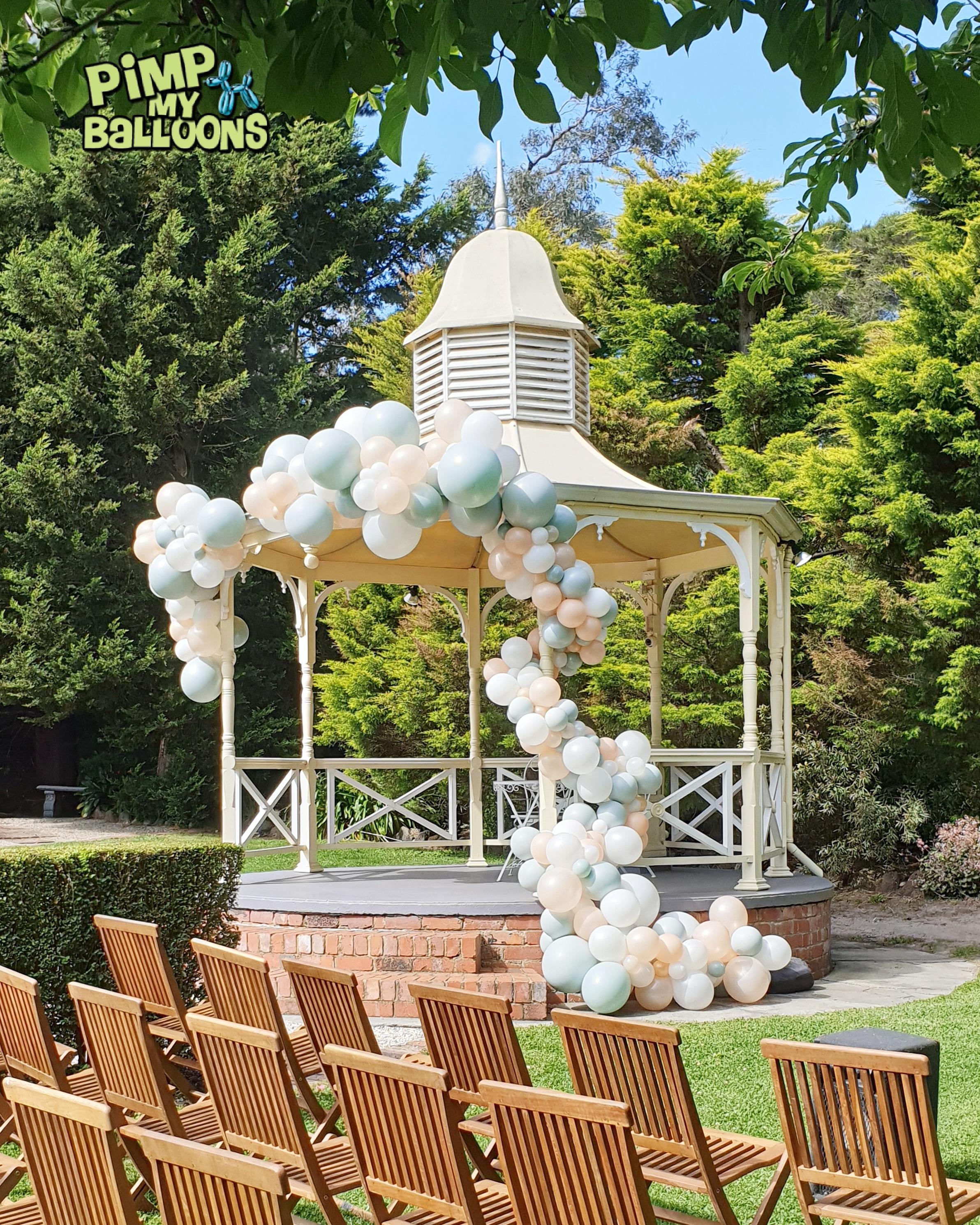 Gazebo Wedding Balloon Garland 3